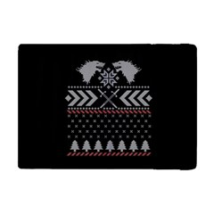 Winter Is Coming Game Of Thrones Ugly Christmas Black Background Apple Ipad Mini Flip Case by Onesevenart