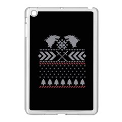 Winter Is Coming Game Of Thrones Ugly Christmas Black Background Apple Ipad Mini Case (white) by Onesevenart