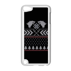 Winter Is Coming Game Of Thrones Ugly Christmas Black Background Apple Ipod Touch 5 Case (white) by Onesevenart