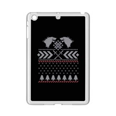 Winter Is Coming Game Of Thrones Ugly Christmas Black Background Ipad Mini 2 Enamel Coated Cases by Onesevenart