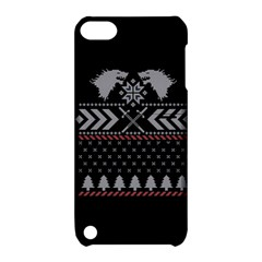 Winter Is Coming Game Of Thrones Ugly Christmas Black Background Apple Ipod Touch 5 Hardshell Case With Stand by Onesevenart