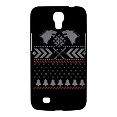 Winter Is Coming Game Of Thrones Ugly Christmas Black Background Samsung Galaxy Mega 6 3  I9200 Hardshell Case by Onesevenart