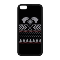 Winter Is Coming Game Of Thrones Ugly Christmas Black Background Apple Iphone 5c Seamless Case (black) by Onesevenart