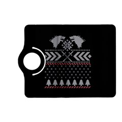 Winter Is Coming Game Of Thrones Ugly Christmas Black Background Kindle Fire Hd (2013) Flip 360 Case by Onesevenart