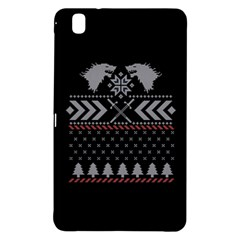 Winter Is Coming Game Of Thrones Ugly Christmas Black Background Samsung Galaxy Tab Pro 8 4 Hardshell Case by Onesevenart