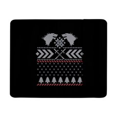 Winter Is Coming Game Of Thrones Ugly Christmas Black Background Samsung Galaxy Tab Pro 8 4  Flip Case by Onesevenart