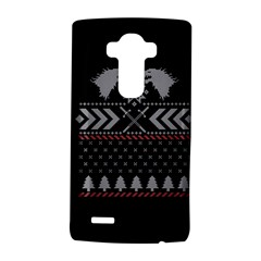 Winter Is Coming Game Of Thrones Ugly Christmas Black Background Lg G4 Hardshell Case by Onesevenart