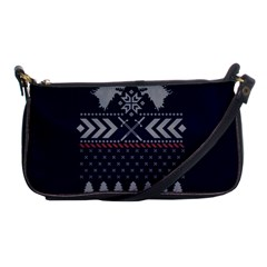 Winter Is Coming Game Of Thrones Ugly Christmas Blue Background Shoulder Clutch Bags by Onesevenart