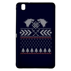 Winter Is Coming Game Of Thrones Ugly Christmas Blue Background Samsung Galaxy Tab Pro 8 4 Hardshell Case by Onesevenart