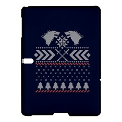 Winter Is Coming Game Of Thrones Ugly Christmas Blue Background Samsung Galaxy Tab S (10 5 ) Hardshell Case  by Onesevenart