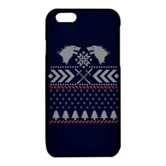Winter Is Coming Game Of Thrones Ugly Christmas Blue Background iPhone 6/6S TPU Case by Onesevenart