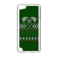 Winter Is Coming Game Of Thrones Ugly Christmas Green Background Apple Ipod Touch 5 Case (white) by Onesevenart