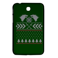 Winter Is Coming Game Of Thrones Ugly Christmas Green Background Samsung Galaxy Tab 3 (7 ) P3200 Hardshell Case  by Onesevenart