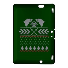 Winter Is Coming Game Of Thrones Ugly Christmas Green Background Kindle Fire Hdx 8 9  Hardshell Case by Onesevenart