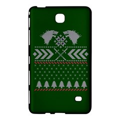 Winter Is Coming Game Of Thrones Ugly Christmas Green Background Samsung Galaxy Tab 4 (8 ) Hardshell Case  by Onesevenart