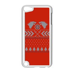 Winter Is Coming Game Of Thrones Ugly Christmas Red Background Apple Ipod Touch 5 Case (white) by Onesevenart