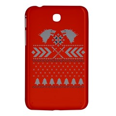Winter Is Coming Game Of Thrones Ugly Christmas Red Background Samsung Galaxy Tab 3 (7 ) P3200 Hardshell Case  by Onesevenart