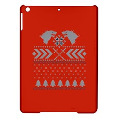 Winter Is Coming Game Of Thrones Ugly Christmas Red Background Ipad Air Hardshell Cases by Onesevenart