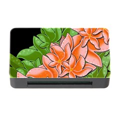 Decorative flowers Memory Card Reader with CF by Valentinaart