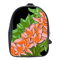 Decorative Flowers School Bags (xl)  by Valentinaart