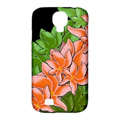 Decorative Flowers Samsung Galaxy S4 Classic Hardshell Case (pc+silicone) by Valentinaart