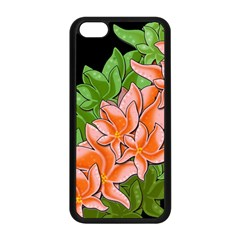 Decorative Flowers Apple Iphone 5c Seamless Case (black) by Valentinaart