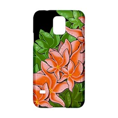 Decorative Flowers Samsung Galaxy S5 Hardshell Case  by Valentinaart