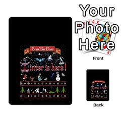 Winter Is Here Ugly Holiday Christmas Black Background Multi Purpose Cards (rectangle)  by Onesevenart