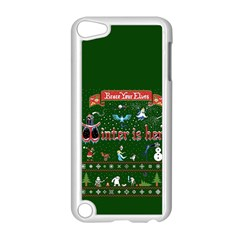 Winter Is Here Ugly Holiday Christmas Green Background Apple Ipod Touch 5 Case (white) by Onesevenart