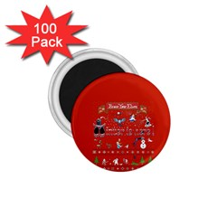 Winter Is Here Ugly Holiday Christmas Red Background 1 75  Magnets (100 Pack)  by Onesevenart