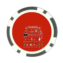 Winter Is Here Ugly Holiday Christmas Red Background Poker Chip Card Guards (10 pack)  by Onesevenart