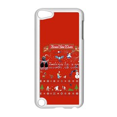 Winter Is Here Ugly Holiday Christmas Red Background Apple Ipod Touch 5 Case (white) by Onesevenart
