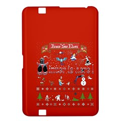 Winter Is Here Ugly Holiday Christmas Red Background Kindle Fire Hd 8 9  by Onesevenart