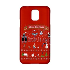 Winter Is Here Ugly Holiday Christmas Red Background Samsung Galaxy S5 Hardshell Case  by Onesevenart