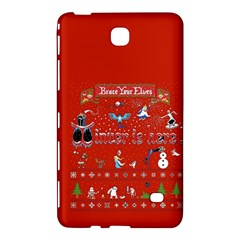 Winter Is Here Ugly Holiday Christmas Red Background Samsung Galaxy Tab 4 (8 ) Hardshell Case  by Onesevenart