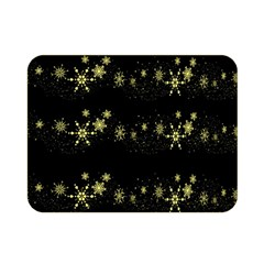 Yellow Elegant Xmas Snowflakes Double Sided Flano Blanket (mini)  by Valentinaart
