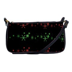 Decorative Xmas Snowflakes Shoulder Clutch Bags by Valentinaart
