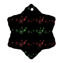 Decorative Xmas Snowflakes Snowflake Ornament (2 Side) by Valentinaart