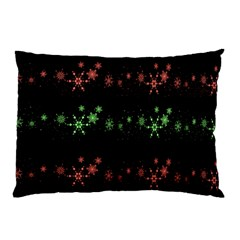 Decorative Xmas Snowflakes Pillow Case (two Sides) by Valentinaart