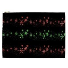 Decorative Xmas Snowflakes Cosmetic Bag (xxl)  by Valentinaart