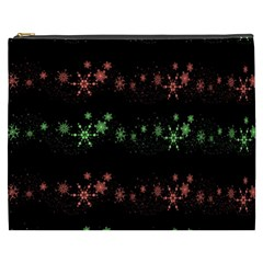 Decorative Xmas Snowflakes Cosmetic Bag (xxxl)  by Valentinaart