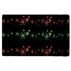 Decorative Xmas Snowflakes Apple Ipad 3/4 Flip Case by Valentinaart