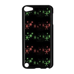 Decorative Xmas Snowflakes Apple Ipod Touch 5 Case (black) by Valentinaart