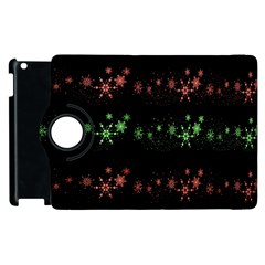 Decorative Xmas Snowflakes Apple Ipad 3/4 Flip 360 Case by Valentinaart