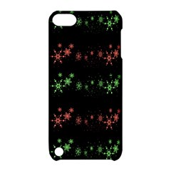 Decorative Xmas Snowflakes Apple Ipod Touch 5 Hardshell Case With Stand by Valentinaart