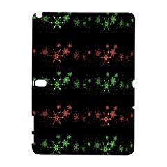 Decorative Xmas Snowflakes Samsung Galaxy Note 10 1 (p600) Hardshell Case by Valentinaart