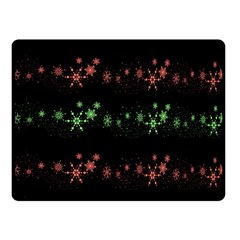 Decorative Xmas Snowflakes Double Sided Fleece Blanket (small)  by Valentinaart