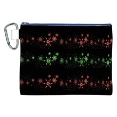 Decorative Xmas Snowflakes Canvas Cosmetic Bag (xxl) by Valentinaart