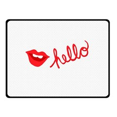 Hello Lip Red Sexy Fleece Blanket (small) by AnjaniArt