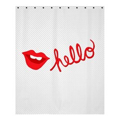 Hello Lip Red Sexy Shower Curtain 60  X 72  (medium)  by AnjaniArt
